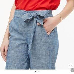 Chambray tie waist pants.